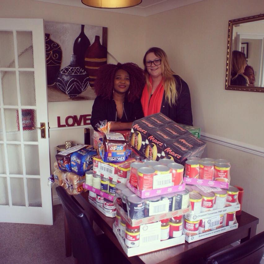 Donation to Foodbank and the Homeless Southsea Portsmouth