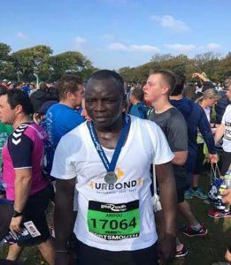 Fundraising: Abdou participating for URBOND at the Great South Run 2016