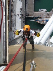 Fundraising: Kingsley abseiling the Spinnaker Tower for URBOND